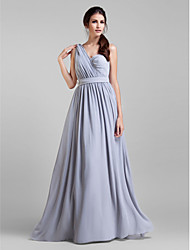 Lanting Bride® Floor-length Georgette Convertible Dress Bridesmaid Dress - A-line Plus Size / Petite withSash / Ribbon / Criss Cross /