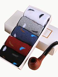 meias masculinas uma caixa de cinco pares de meias de algodão puro