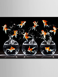 E-HOME Stretched Canvas Art Bouncing A Goldfish Decoration Painting One Pcs