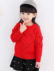 Girl Casual/Daily Embroidered Hoodie & Sweatshirt,Polyester Winter / Spring / Fall Long Sleeve Regular