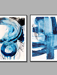 IARTS Blue Art Sea Painting Handpainted 2 Panels Framed 100% Hang-Painted Oil PaintingModern Two Panels Canvas Oil Painting For Home Decoration