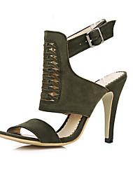 Damen-Sandalen-Lässig Party & Festivität-Kaschmir-Stöckelabsatz-Passende Schuhe & Taschen-Schwarz Gelb Rot Armee-Grün