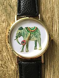 New School Student Watch Men Watch Elephant Pattern Leather Watch Unisex Watch Women Watch Strap Watch