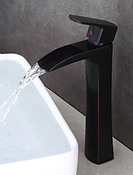Oil-rubbed Bronze Bathroom Sink Faucet Contemporary Design Waterfall
