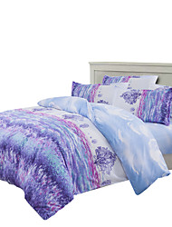 Mingjie Purple Lavenders Bedding Sets 4PCS for Twin Full QueenSize from China Contian 1 Duvet Cover 1 Flatsheet 2 Pillowcases