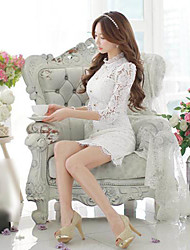 Pink Doll®Women's Lace/Party Long Sleeve Above Knee Dress