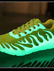 LED Light Up Shoes,Unisex Sneakers Spring Summer Fall Winter Comfort PU Outdoor Casual Athletic Low Heel Lace-up Black Yellow