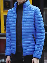 Hommes&mince plume rembourrée korean mince veste de coton casual hiver épais manteau marée jeunes; # 39