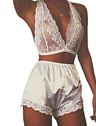 Women Lace Lingerie / Suits Nightwear,Chiffon / Lace