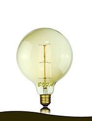13ak bofa G125 40w antique edison lâmpada bolha bola de seda (85v-265v)