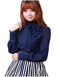 Sweet Lolita Red / White / Black / Ink Blue / Coffee Blouse