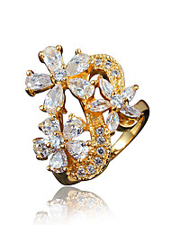 Flower Designs Africa Design Real Gold Plating Statement Ring