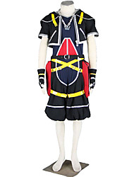 Inspired by Kingdom Hearts Cosplay Anime Cosplay Costumes Cosplay Suits Solid Coat Pants Gloves Belt Necklace More Accessories T-shirt For