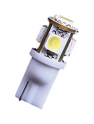 2x 7000K bianco freddo 5 smd t10 168 194 2825 lampadine principali targa noi luci