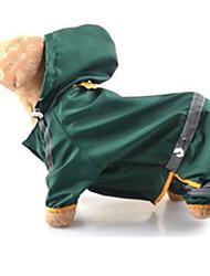 Собаки Дождевик Одежда для собак Лето Весна/осень Однотонный Защита от ветра