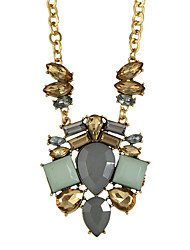 Gold Plated Colroful Rhinestone Very Long Necklace