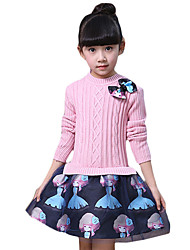 Girl's Casual/Daily Print Dress / Clothing SetOthers Spring / Fall Pink / Red