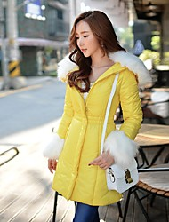 DABUWAWA Women's Long Padded CoatCute / Street chic / Sophisticated Going out / Casual/Daily / Holiday Solid Long