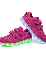 Girl's Athletic Shoes Spring Fall Comfort PU Outdoor Flat Heel Black Blue Green Pink Red White