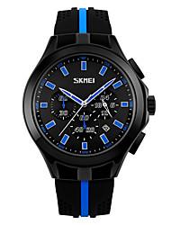 Masculino Relógio de Pulso Quartzo Calendário Cronógrafo Impermeável Cronômetro Silicone Banda Legal Cores Múltiplas marca