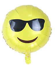 Balões Decoração Para Festas Emoji alumínio Amarelo Para Meninos Para Meninas 5 a 7 Anos