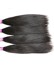 "4 Pcs /Lot 8""-30""7A Peruvian Virgin Hair Straight Human Hair Wefts 100% Unprocessed Peruvian Remy Hair Weaves"