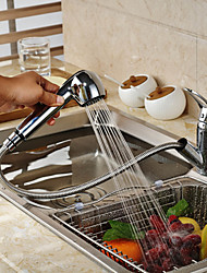 High Quality Fashion Brass Pull-out/Pull-down 360 Degree Rotatable Kitchen Faucet - Silver