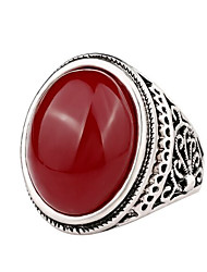 Ring AAA Cubic Zirconia Gemstone Alloy Classic Black Red Jewelry Casual 1pc