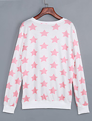 Women's Fall Casual/Daily / Holiday Simple Five Point Stars Printed Women O Neck Long Sleeves Sweatshirt