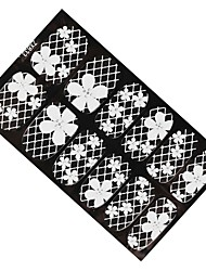 1pcs Nail Stickers Nail Stickers White Lace Ribbons Diamond