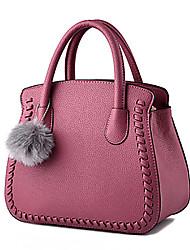 M.Plus® Women's Fashion Korean Solid PU Leather Messenger Shoulder Bag/Tote