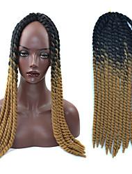 Havana de cabelo crochet torção tranças de luz negra ombre castanhos extensões 22 Kanekalon tranças de cabelo 2 vertente 120g grama
