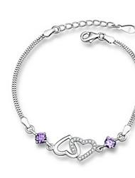 Femme Chaînes & Bracelets Cristal Amour Argent sterling Bijoux Pour Soirée
