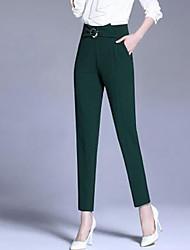 Femme Sarouel Chino Pantalon,simple Décontracté / Quotidien Couleur Pleine Taille Normale fermeture Éclair Bouton Polyester Extensible