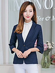 Sign 2016 new female small suit sleeve cotton Korean Slim small suit jacket a buckle