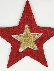 Рождественский декор Товары для Рождественской вечеринки Товары для отпуска 2Pcs Рождество Металл Серебристый Зеленый