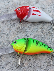 1 pcs Crank Hard Bait Fishing Lures Hard Bait Random Colors Hard Plastic Sea Fishing