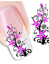 1sheet  Water Transfer Nail Art Sticker Decal XF1432