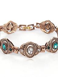 Feminino Pulseiras em Correntes e Ligações Cristal Moda Estilo Boêmio Colorido Jóias de Luxo Strass Imitações de Diamante Jóias Para