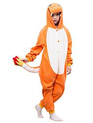Kids Kigurumi Pajamas Charmander Leotard/Onesie Festival/Holiday Animal Sleepwear Halloween Orange Solid Polar Fleece For Kid Halloween Christmas