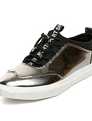 Men's Sneakers Spring Summer Fall Winter Comfort PU Office & Career Casual Party & Evening Black Blue Silver