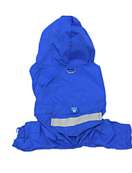 Dog Rain Coat Blue Dog Clothes Summer Spring/Fall Solid Casual/Daily Waterproof