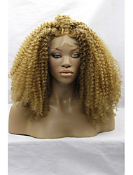Synthetic Lace Front Wigs Yello Hair Water Wave Synthetic Wigs