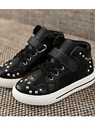 Boy's Sneakers Comfort Leatherette Casual Black White