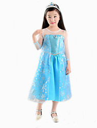 Cosplay Costumes / Party Costume / Masquerade Princess / Animal / Cinderella / Cosplay Movie Cosplay Blue Solid Dress Halloween / Carnival