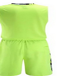 Men's Short Sleeve Basketball Running Sweatshirt Tops Baggy Shorts Breathable Sweat-wicking Comfortable Yellow Green Red Black BlueYellow