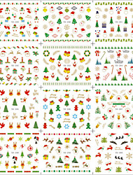 1 Pcs New Nail Decals Watermark Nail Stickers Decoration Christmas Yb289-300 Nail Stickers