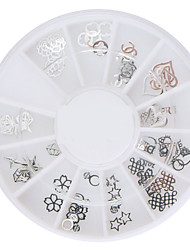 60PCS Silver Soft Metal Nail Art Decorations Kits