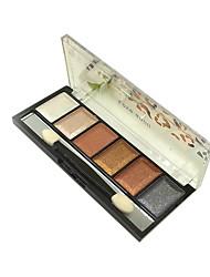 6 Paleta de Sombras Secos Paleta da sombra Pó Normal Maquiagem de Festa