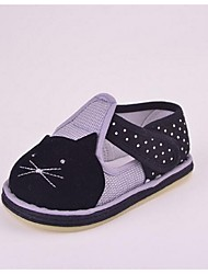Girl's Flats First Walkers Fabric Casual Black